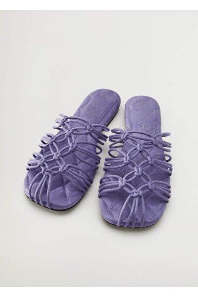 Kadın Lavanta Düğümlü Bantlı Sandalet