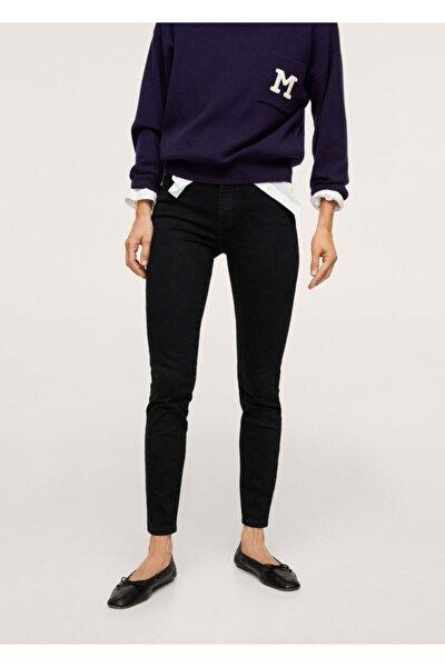 Kadın Siyah denim Yüksek Bel Skinny Jean Pantolon