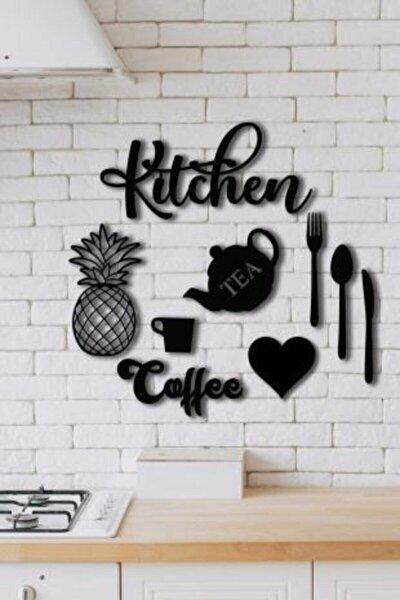 Kitchen 9 Parça Mutfak Lazer Kesim Ahşap Duvar Dekorasyon Ürünü