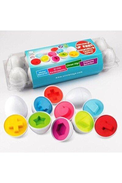 12'li Geometrik Yumurta Eşleme Oyunu