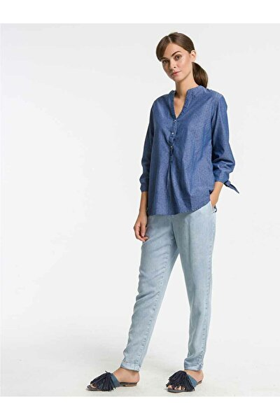 Temocı Blue Strıped Wash Straıght_cut Pantolon
