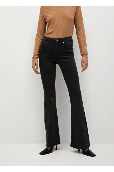 Bel Yüksekliği Orta Boy Flare Jeans