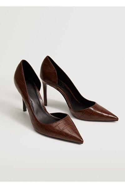Kadın Kahverengi Asimetrik Stiletto Ayakkabı