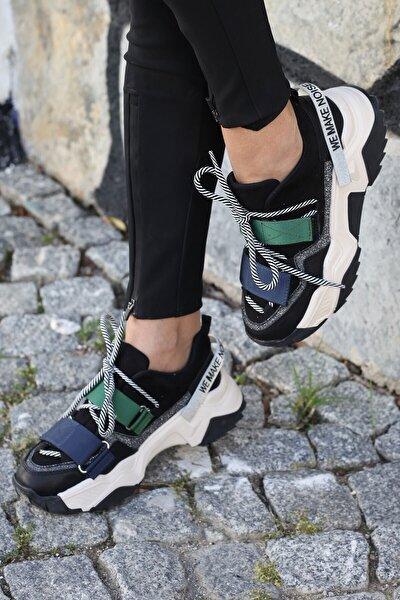 Kadın Siyah Spor Ayakkabı Multi 65140
