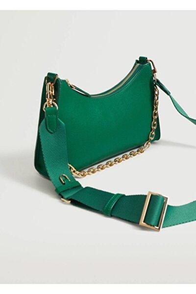 Kadın Yeşil Zincirli Çapraz Çanta