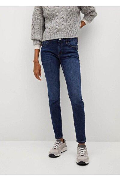 Kadın Koyu Mavi Kim Skinny Push-up Jean Pantolon