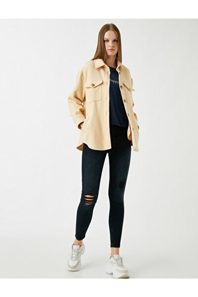 Kadın Koyu İndigo Jeans