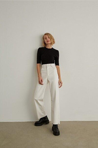 Deri Pantolon Beyaz