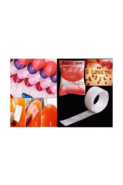 100 Adet Balon Yapıştırma Aparatı Sticker Damla Modeli ( 1,2 Cm)