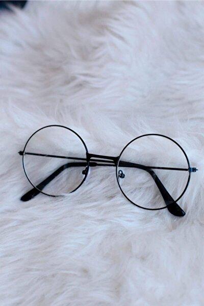Yuvarlak Şeffaf Harry Potter Güneş Gözlüğü Siyah
