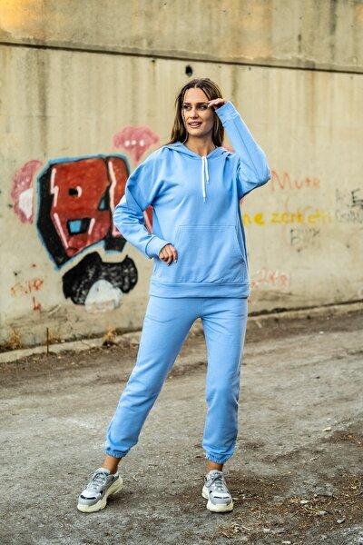 Kadın Açık Mavi Eşofman Takımı