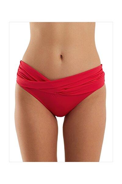 Kadın Kırmızı Burgulu Bikini Altı 63052