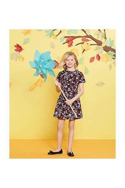Kız Çocuk Çiçek Desenli Elbise