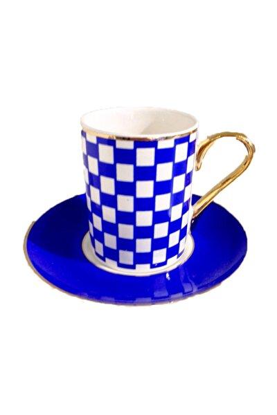 Damalı Kahve Fincan Takımı