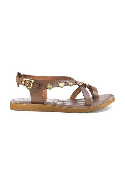 Kadın H.deri Günlük Sandalet Taba 20980209