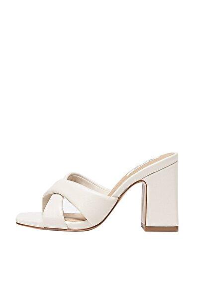Kadın Ekru Dolgulu Topuklu Sandalet 19205570