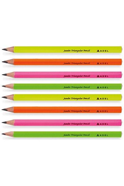 Adel Jumbo Üçgen Kurşun Kalem 8 Li Paket (2063140108)
