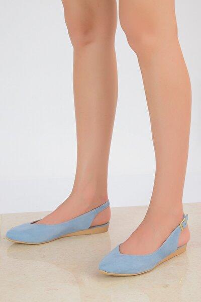 Mavi Süet Kadın Sandalet 20Y 900