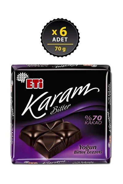 Karam %70 Kakaolu Bitter Çikolata 70 g x 6 Adet