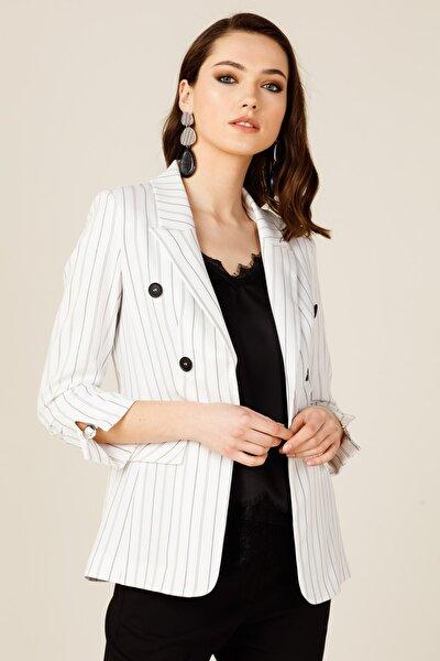 Kadın Ekru Blazer Ceket 20Y.EKL.CKT.03062.1