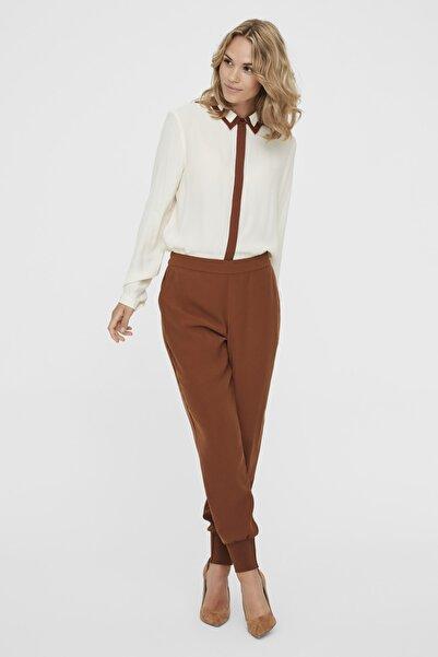 Kadın Tarçın Paçası Kalın Ribanalı Beli Lastikli Pantolon 10222221 VMJOLLY