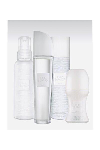 Pur Blanca 4 Lü Set ( Parfüm, Deodorant, Vücut Spreyi, Roll-on )
