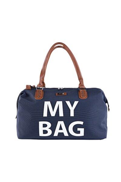 7070 My Bag Deri Anne Bebek Çantası Lacivert