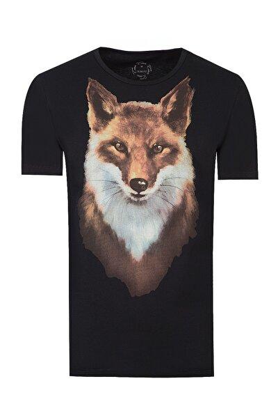 Siyah Renk Erkek  T-shirt (Slim Fit)