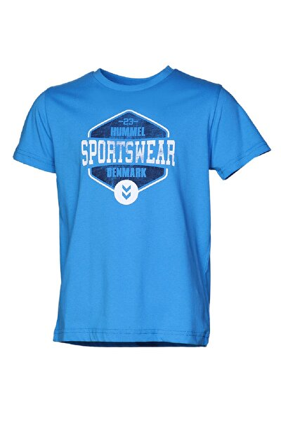 HMLLEVI  T-SHIRT S/S Mavi Erkek Çocuk T-Shirt 100580685