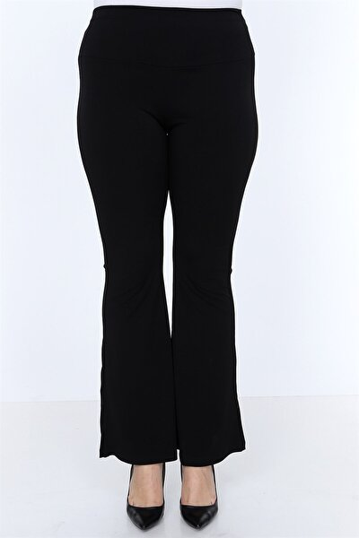 8300 - Sandy Uzun Ispanyol Paça Siyah Pantolon