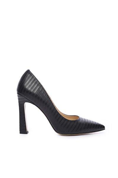 Hakiki Deri Siyah Kadın Stiletto Ayakkabı 22 943 BN AYK