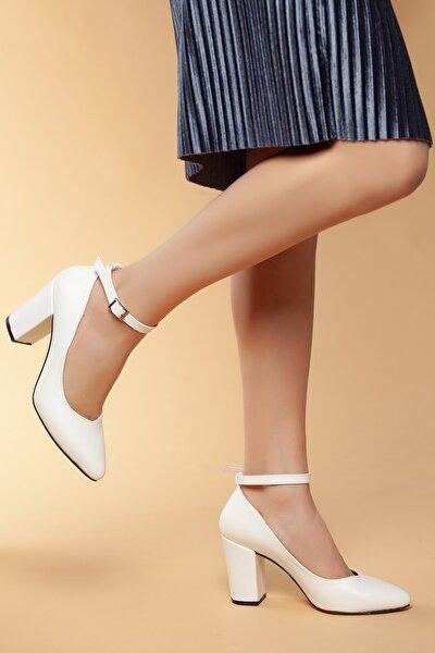 Beyaz Kadın Klasik Topuklu Ayakkabı DXTRSWMNYK715