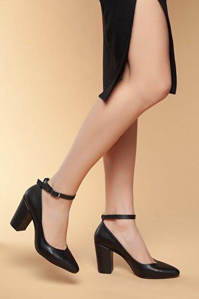 Siyah Kadın Klasik Topuklu Ayakkabı DXTRSWMNYK715