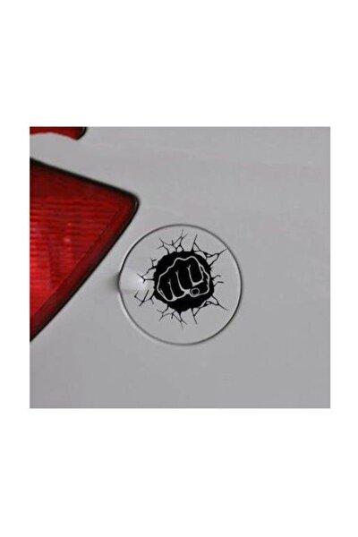 Yumruk Depo Kapağı Oto Sticker, Araba Sticker, Araç Sticker 13 cm
