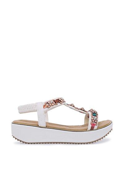 Beyaz Kadın Sandalet 38919Y200