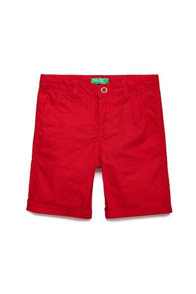 Kırmızı Çocuk Chino Bermuda Şort