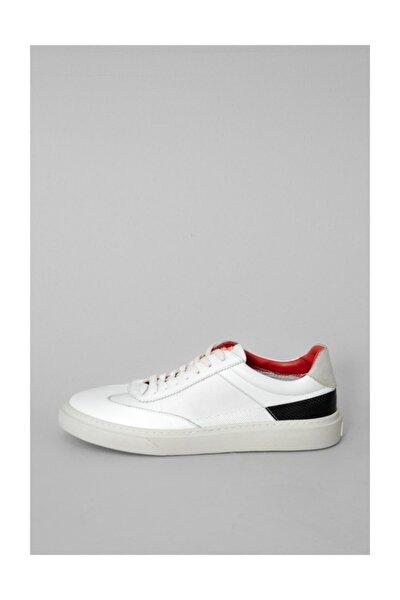 Tron Deri Sneaker Beyaz