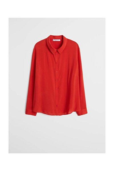 Kadın Kırmızı Dökümlü Gömlek 67002007