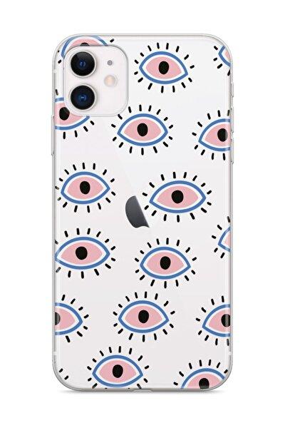 Apple Iphone 11 Telefon Kılıfı Mavi Gözler Tasarımlı