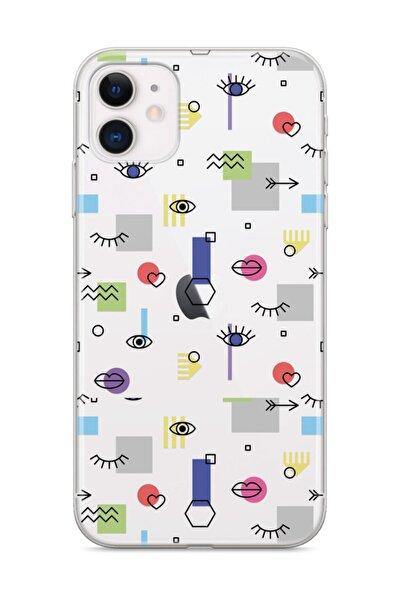 Apple Iphone 11 Telefon Kılıfı Gözlerden Kalbe Tasarımlı
