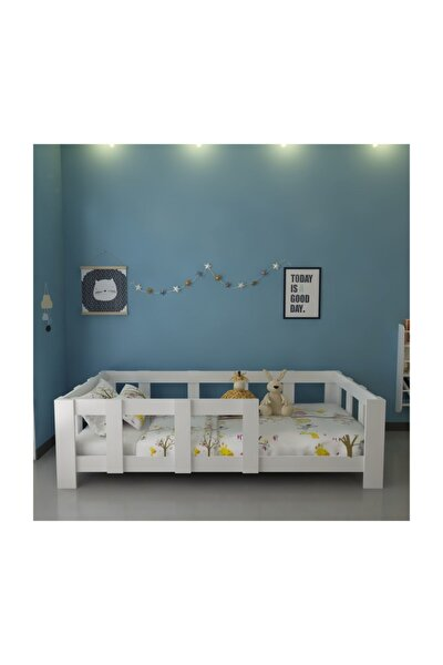 İdeal Montessori Karyola Beyaz W43 - 90x190 Yatak Uyumlu