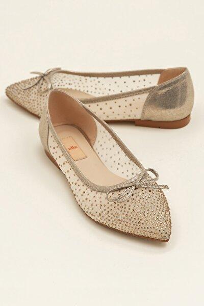 JEANETTA Altın Kadın Casual Ayakkabı