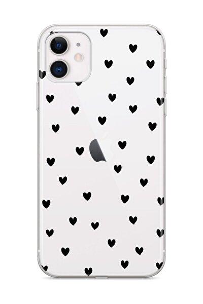 Apple Iphone 11 Telefon Kılıfı Neon Kalpler Tasarımlı
