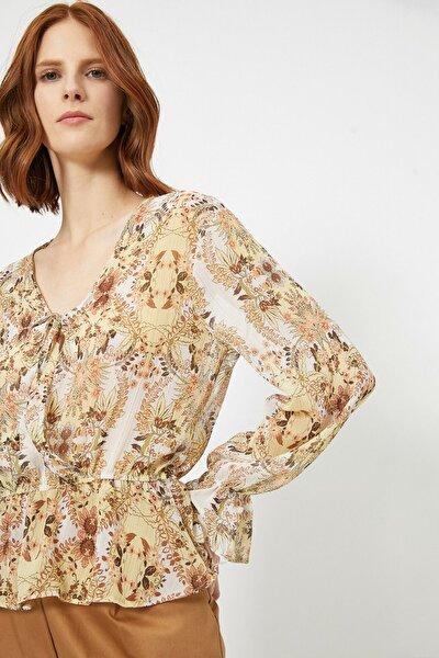Kadın Desenli Anvelop Bluz