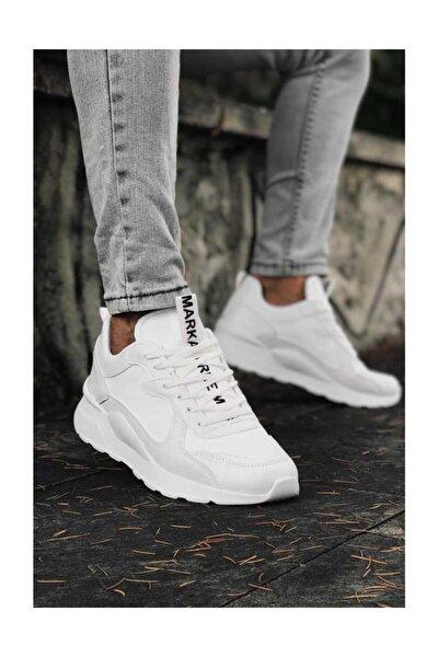 Erkek Beyaz Günlük Rahat Spor Ayakkabı