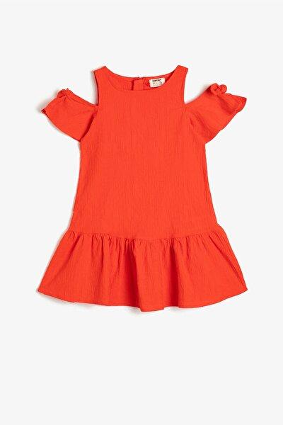 Turuncu Kız Çocuk Elbise
