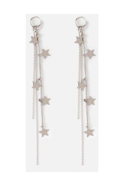 Gümüş Sallanan Yıldızlar Küpe