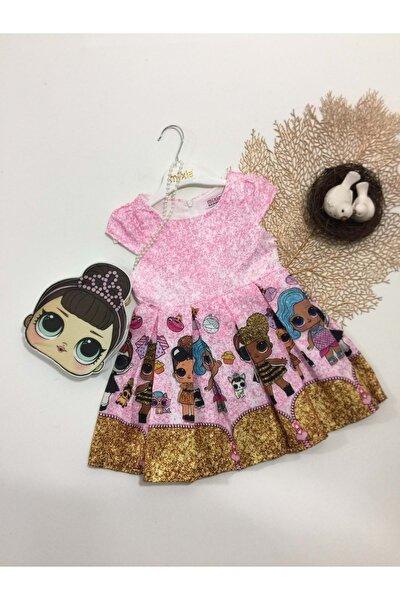 Çantalı Jakara Dijital Baskı Lol Elbise