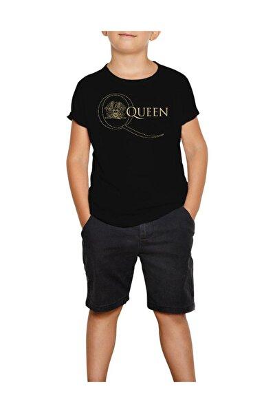 Queen Logo 2 Siyah Çocuk Tişört