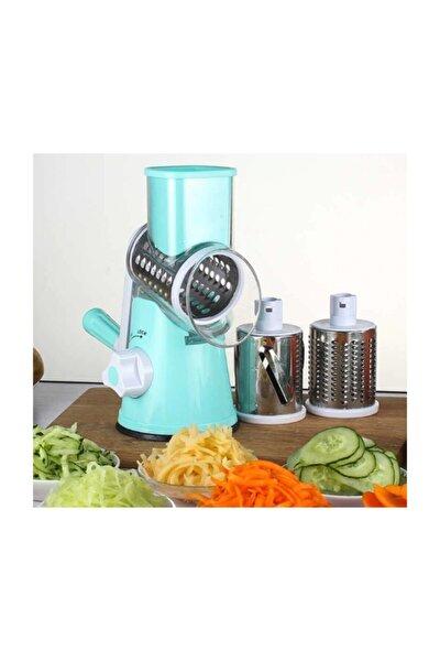 Kollu Sebze Doğrama Makinesi 3 Farklı Çelik Bıçak Doğrayıcı